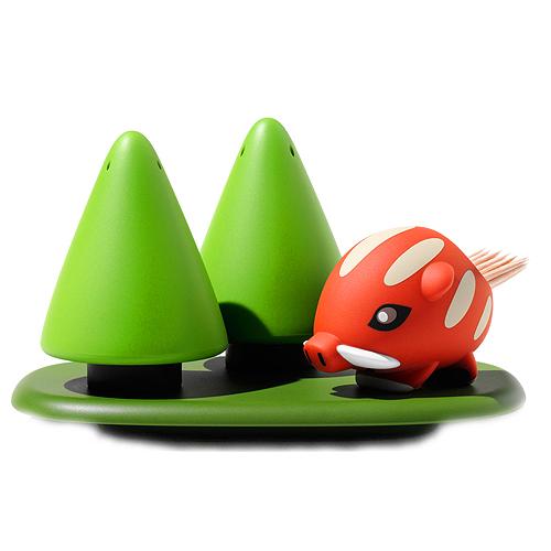 Zestaw-solniczka-pieprzniczka-i-pojemnik-na-wykałaczki-A-di-Alessi-Forest-Gump