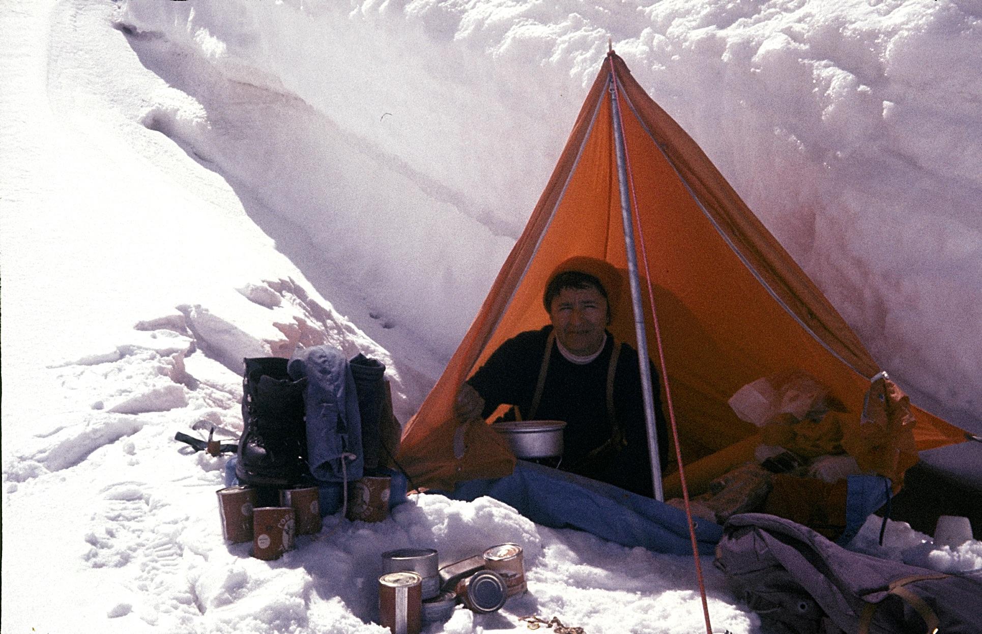 Halina Kruger – Syrokomska podczas wyprawy kobiecej na Gaszerbrumy w 1975 roku, fot. archiwum prywatne Marianny Syrokomskiej