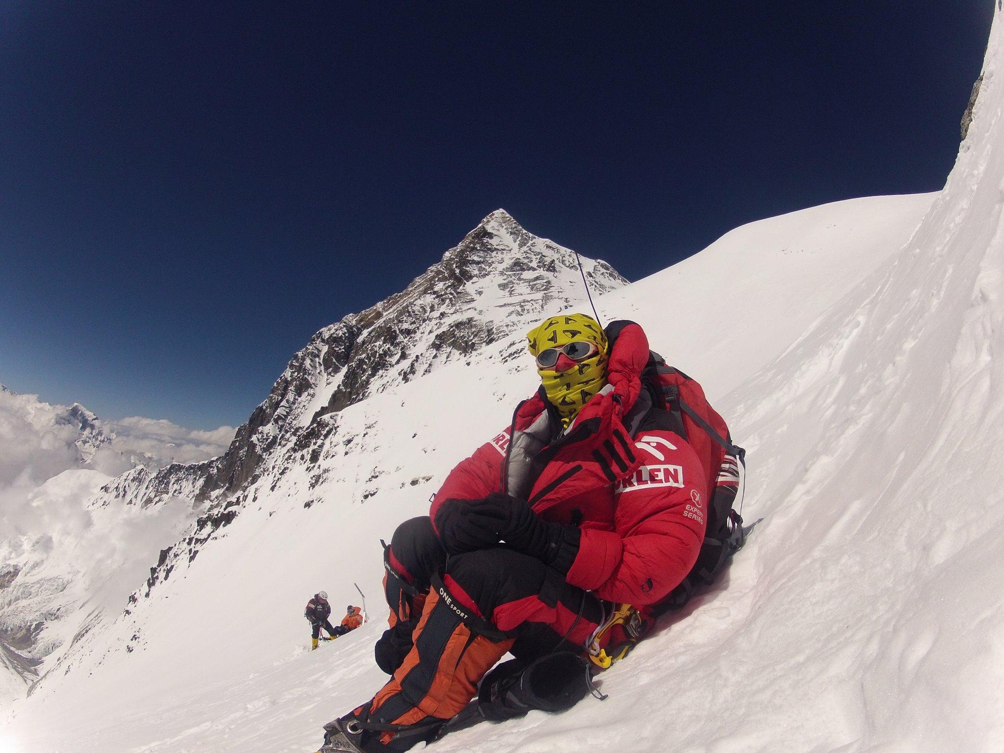 Agnieszka Bielecka na zachodniej ścianie Lhotse, wrzesień 2012, fot. archiwum prywatne