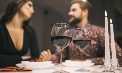 kolacja przy winie